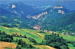 Slovakia's beautiful Pieniny region on the Polish border.
