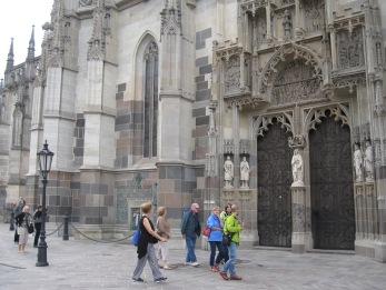 Entering St. Elizabeth's Cathedral