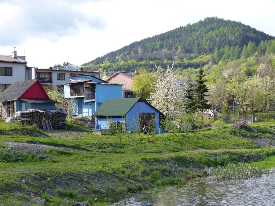 Since the end of the Soviet era, Slovaks have painted their houses in happy, bright hues.