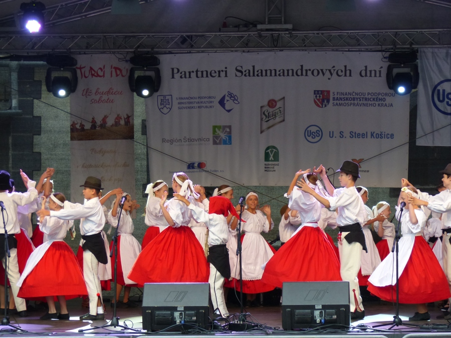 Traditional dance and pop music fills the air.